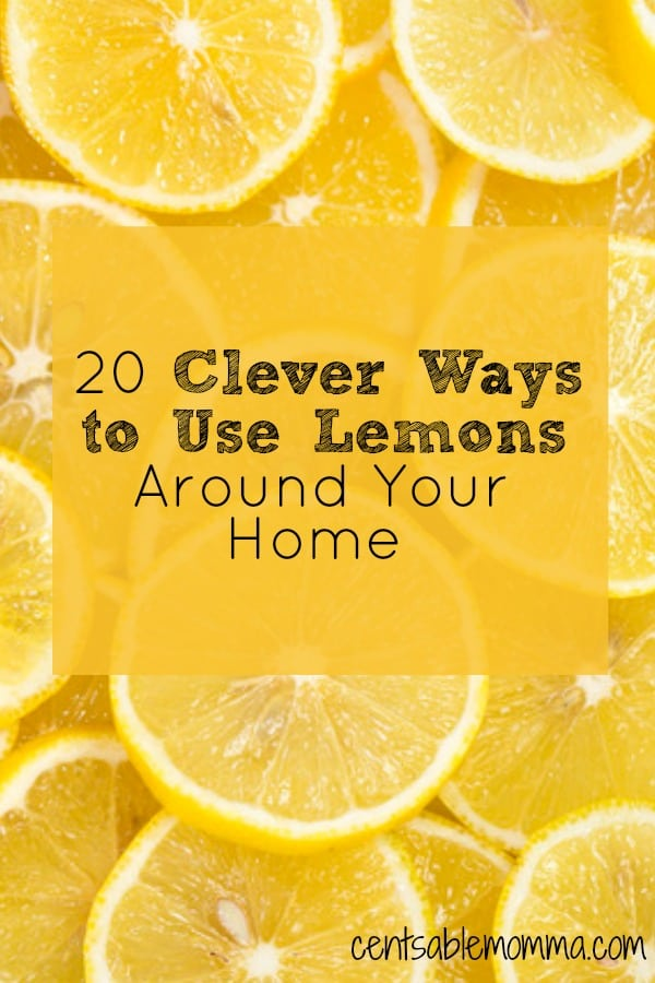Think that lemons are just for lemonade or flavoring water?  Think again!  Check out these 20 clever ways to use lemons around your home - from cleaning to hair care to skin care and more
