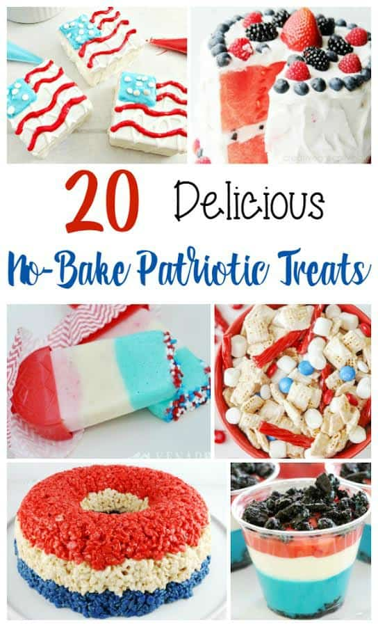 Don't worry about heating up the kitchen this Memorial Day or Fourth of July with these 20 delicious No-Bake Patriotic Treats.
