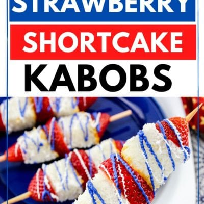 Patriotic Strawberry Shortcake Kabobs Recipe
