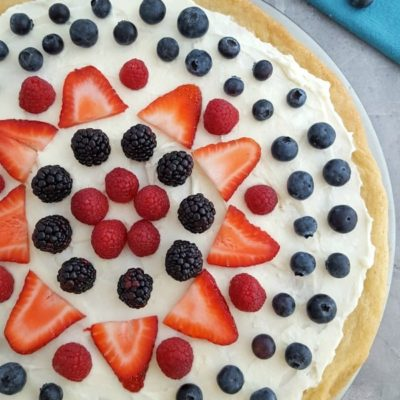 Red, White and Blue Fruit Pizza