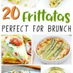 collage image of frittata recipes.