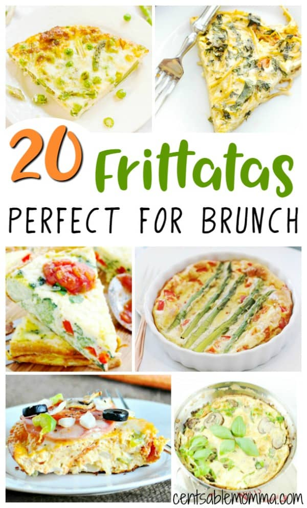Need a recipe for your next brunch?  Check out these 20 frittata recipes for some creative ways to make egg dishes for breakfast, including healthy recipes, ones with potatoes, and more.
