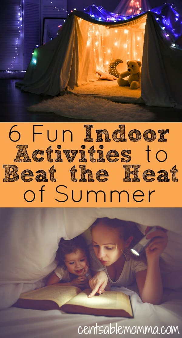 As the temperatures continue to rise over the summer, it can get too hot to play outside without a pool. Check out these 6 fun indoor activities to do with kids to beat the heat of summer.