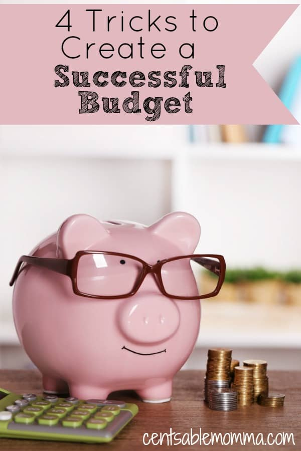 Do you have trouble creating your budget?  Check out these 4 tricks to create a successful budget for some tips on getting it right the first time.