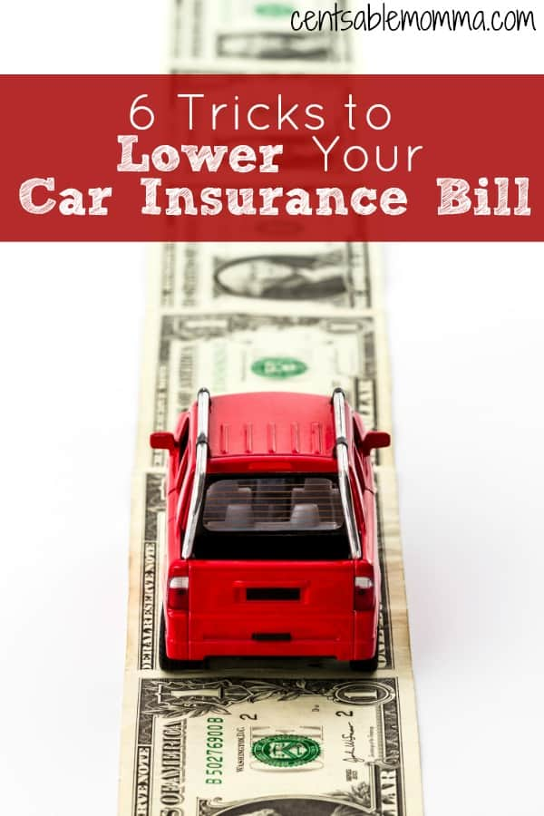 Do you feel like your car insurance premium gets higher and higher each year?  Check out these 6 tricks to lower your car insurance bill for some ways to save money on auto insurance.