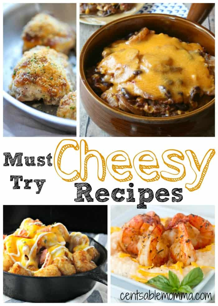 I love cheese...which is why these 20 Must-Try Cheesy Recipes are perfect!  With a wide variety of easy recipes - some are great for dinner tonight (like chicken spaghetti) and some are great as appetizers (like stuffed cheesy bread).  Which one are you going to make first?