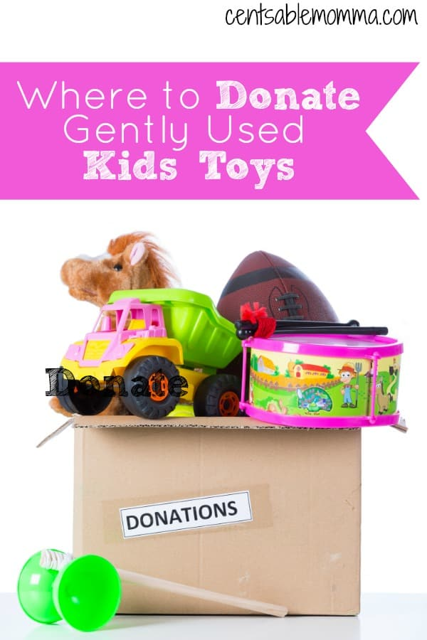You've worked hard to declutter your kids' toys and now you want them out of the house pronto! But, what should you do with them? Check out these 5 places where you can donate gently used kids' toys so you both benefit from your decluttering.