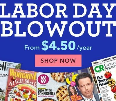 Labor Day Magazine Blowout Sale