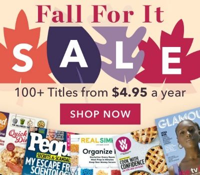 DiscountMags: Fall Magazine Blowout Sale