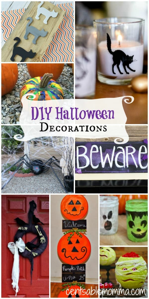 Create your own DIY Halloween decorations with these 10 decor ideas perfect for the holiday.