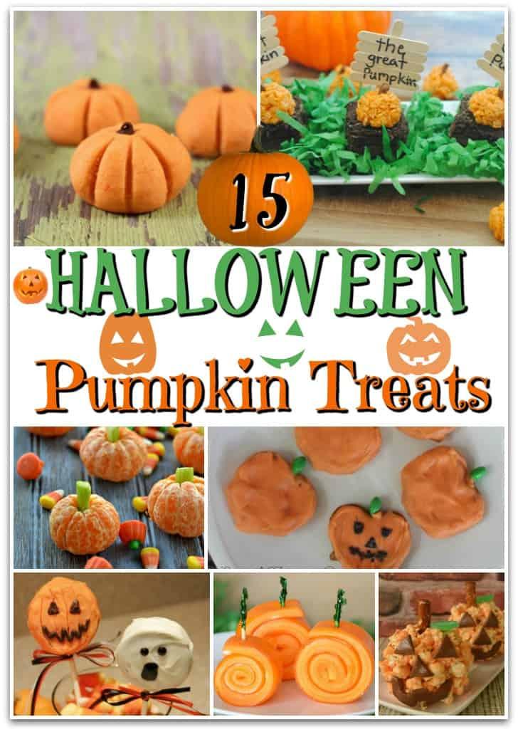 Create cute pumpkin snacks for Halloween with these 15 DIY ideas for Halloween Pumpkin Treats. It includes fun recipes like pumpkin popcorn balls, pumpkin pretzels, and even orange pumpkins!