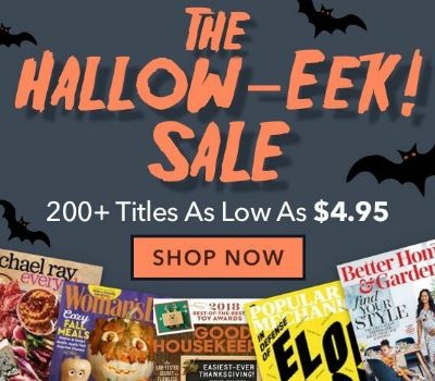 Halloween Magazine Sale: starting at $4.95/year