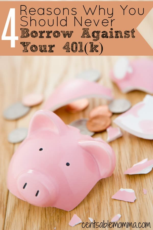 If you have a 401(k) with some savings in it, it can be tempting to borrow against it when you hit hard times or need cash for a big purchase, but before you borrow check out these 4 reasons why you should never borrow against your 401(k).