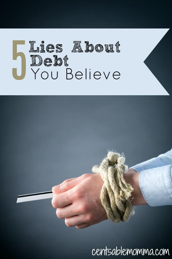 It could be that you are having trouble getting out of debt because of the way that you think about debt.  Check out 5 Lies About Debt that You Believe to help you change your mindset and start the process of getting and staying out of debt.