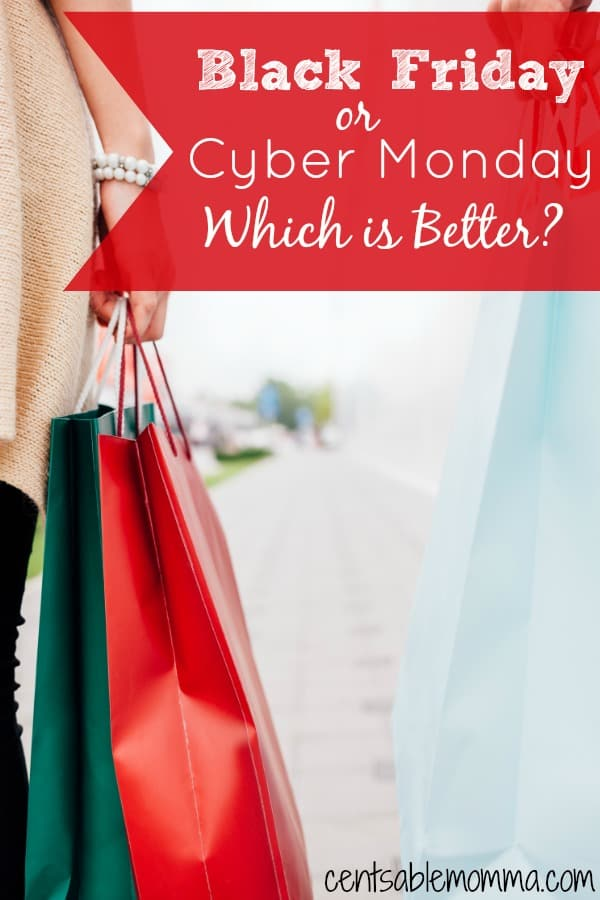 Black Friday and Cyber Monday are both huge shopping days as we head into the holidays. But, which one is better? Find out which one I like better...