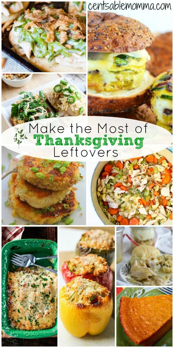 Now that Thanksgiving is over and you have tons of leftovers from dinner, what to do with it all?  Check out these ideas for how to turn Thanksgiving leftovers into fun recipes - from sandwiches to casseroles and more! #thanksgiving #leftovers