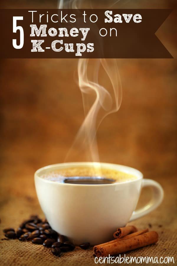 You love only making a single cup of coffee each morning with your Keurig, but you probably don't love the cost of buying K-cups! Check out these 5 tricks for tips and ideas on how to save money when you buy K-Cups.