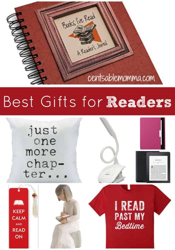 If you have someone on your gift list who loves to read, you'll love these gift giving ideas for the reader, including novelty items, a book light, bookmarks, a Kindle Paperwhite, and much more.