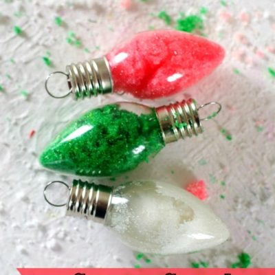 Sugar Scrub Christmas Lights DIY Gift