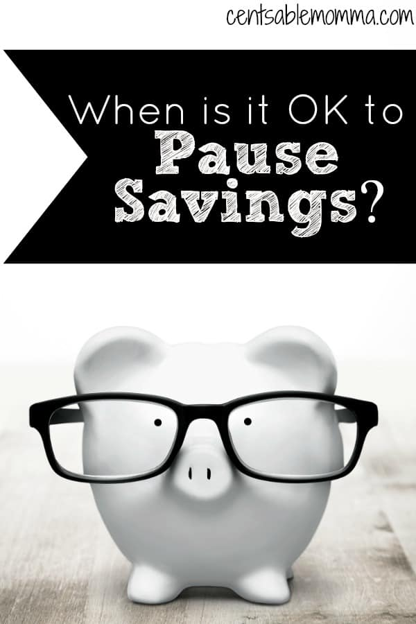 You're trying to save as much money as you can - either for your emergency fund, a future savings goal, or even retirement.  But, when is it ok to pause your savings to deal with other financial situations?  Check out these 4 times that it's ok to pull back on your savings for a short period of time.