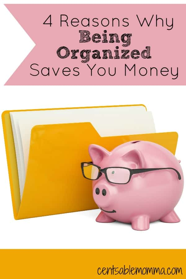You may think that being organized just means you have a clean house. But, being organized can actually save you money too! Check out these 4 reasons why being organized can save you money.