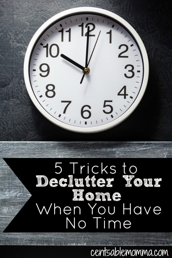 You want to declutter your home, but you just don't have enough time to get the job done.  However, you have more time than you think to get your house organized with these 5 tricks to declutter your home when you have no time.