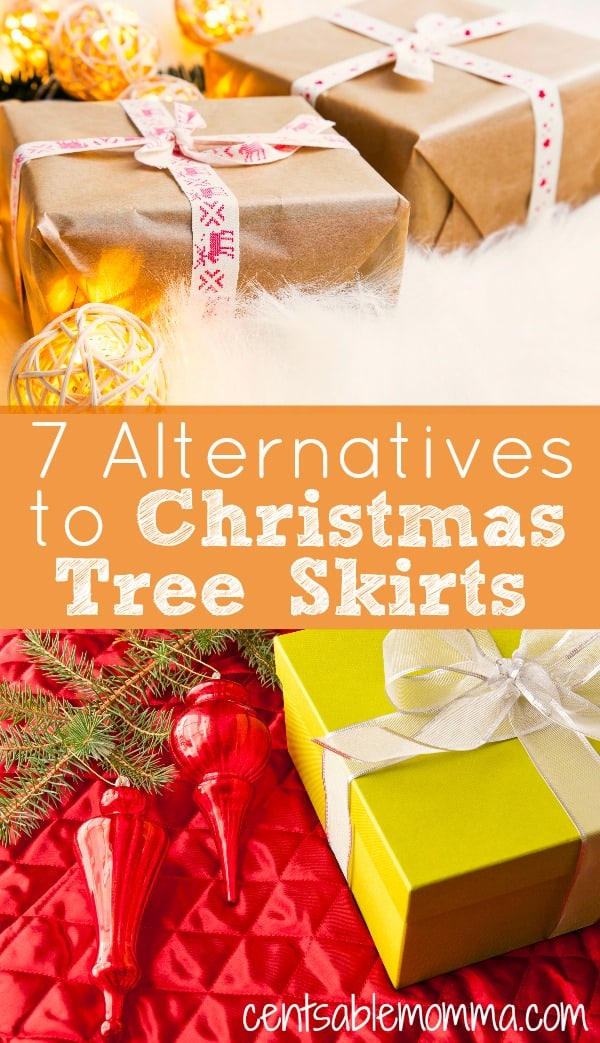 Rather than spend a ton of money on a Christmas tree skirt, try one of these 7 alternatives for a fun, inexpensive, and unique tree skirt for under your tree.