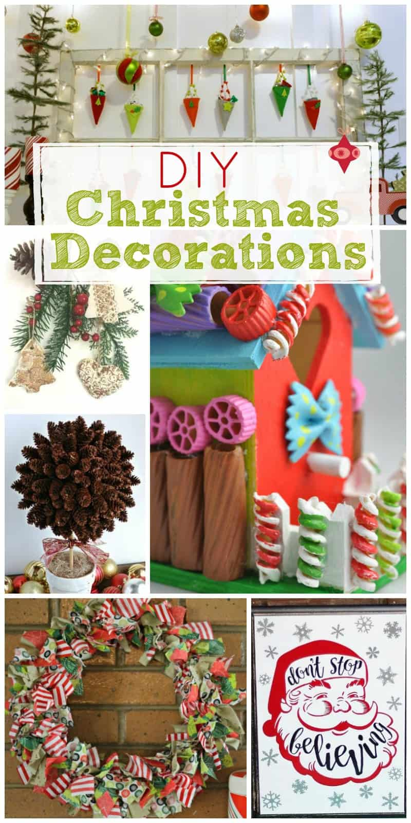 Create unique Christmas decorations on a budget (and have fun doing it) with this list of DIY Christmas decorations - with something for everyone!