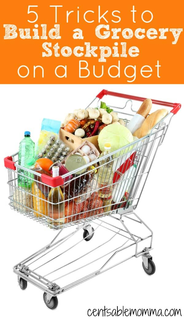One way to save money on groceries is to build a stockpile of items that you buy at the best prices (on sale and with coupons) and then combine the use of your stockpile with your current grocery shopping.  But, you don't have to spend a ton of money to create a stockpile of groceries when you use these 5 Tricks to Build a Grocery Stockpile on a Budget.