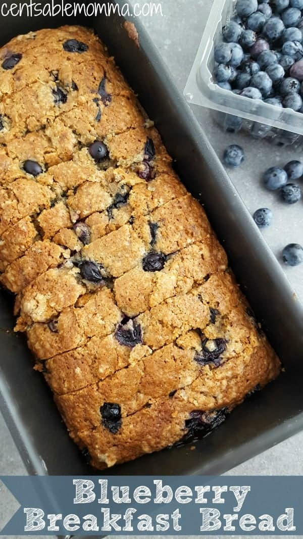 Blueberry Breakfast Bread Recipe Centsable Momma