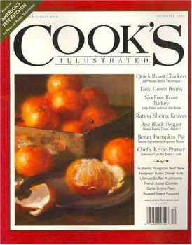 Cook's Illustrated Magazine: $6.99 per year