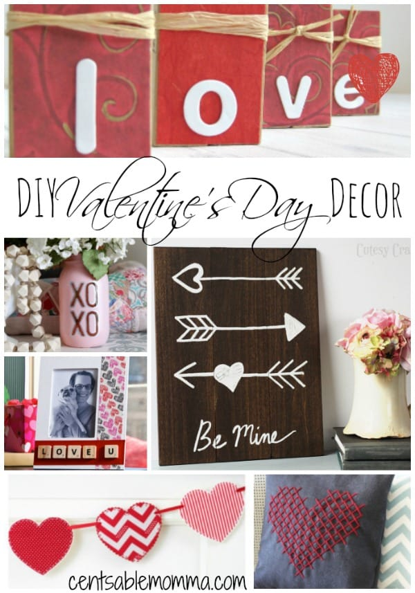 Want to decorate your home for Valentine's Day, but don't have a ton of money? Check out these 30+ DIY Valentine's Day Decor ideas for some great crafts that you can create for fun Valentine decorations.