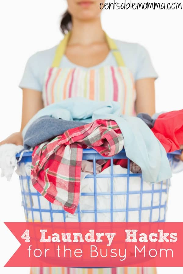 If you're a busy mom and struggle to find the time to get your laundry pile finished each week, check out these 4 laundry hacks for the busy mom with tips and tricks to save both time and money.