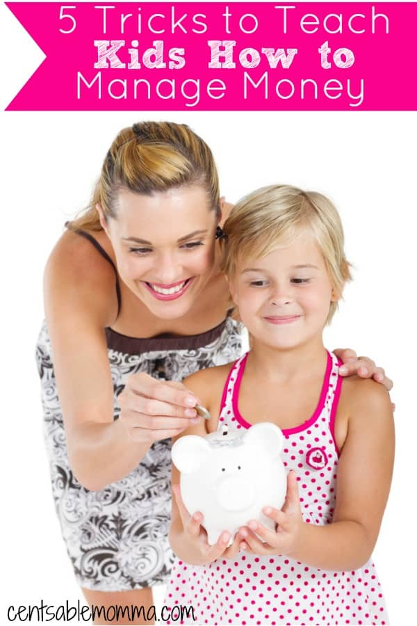 You want your kids to be responsible with money as they grow up.  Check out these 5 Tricks to Teach Kids How to Manage Money for some tips on teaching earning money, saving money, and more.