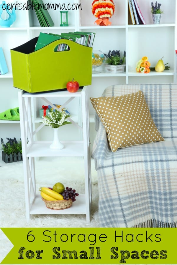 You have a small space, but that doesn't mean it has to be cluttered and disorganized.  Check out these 6 storage hacks for small spaces for some tips and tricks to get yourself organized.