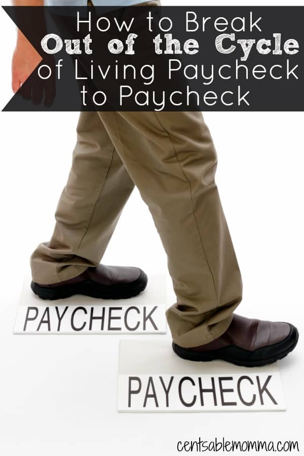 It's stressful to living paycheck to paycheck hoping that you can make your money stretch the entire month!  Check out these 7 tips for how to break out of the cycle of living paycheck to paycheck for good.