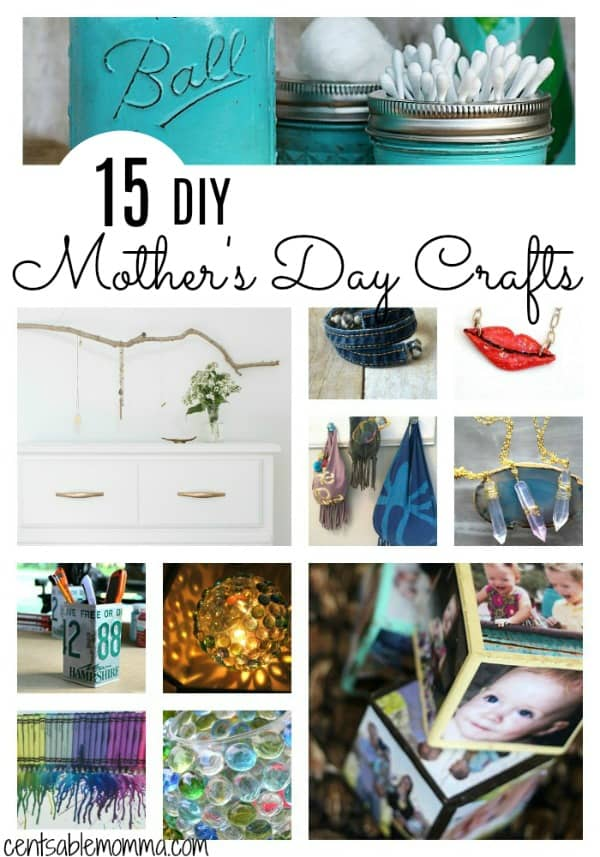 If you love homemade crafts as Mother's Day gifts from your kids, you'll love these 15 DIY Mother's Day Craft ideas that you can either make as gifts or make them together for a fun afternoon together.