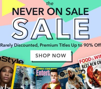 Rarely Discounted Magazine Sale