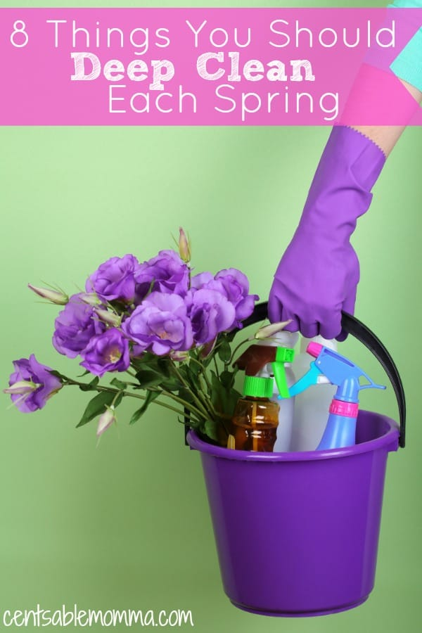 As the temperatures get warmer, so do our desires to clean the muck of winter out of our homes. But, spring cleaning can feel overwhelming. Check out these 8 Things You Should Deep Clean Each Spring for some ideas of ares of your home to tackle.