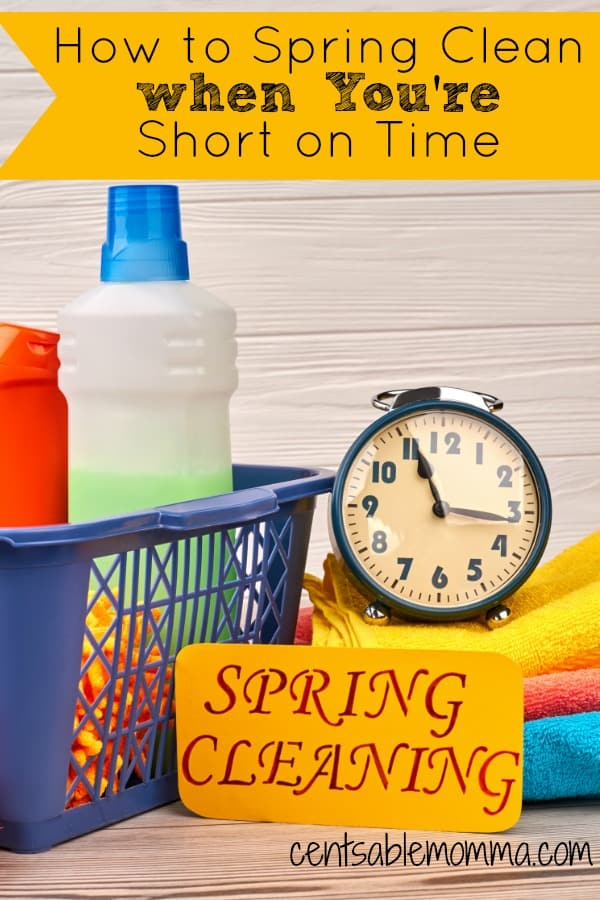 You want to spring clean your home and get it sparkly clean from top to bottom, but you just don't have the time for it between kids' activities, work, and everything else. Check out these 5 tips for how to spring clean your house when you're short on time for some ideas on how to get the job done!