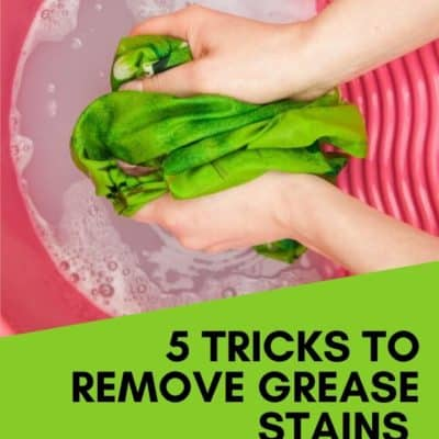 5 Tricks to Remove Grease Stains from Clothes