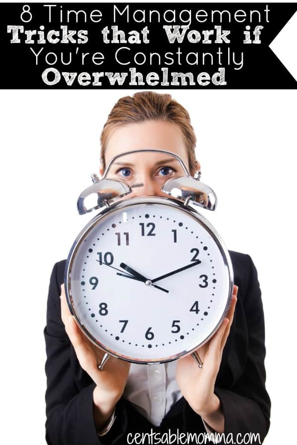 If you constantly feel like you're overwhelmed and you can never get ahead, check out these 8 time management tricks that work to cut the overwhelm.