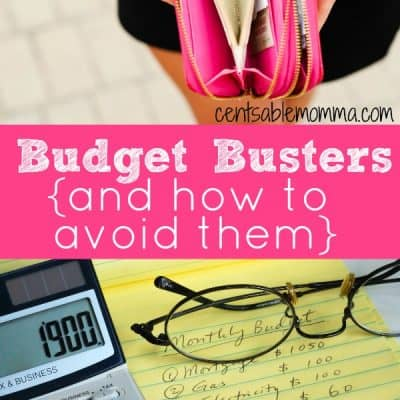 6 Budget Busters {and How to Avoid Them}
