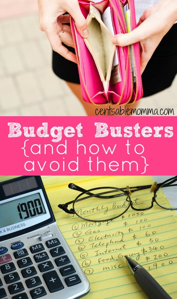 Do you feel like you're always struggling to stay on budget? Check out these 6 budget buster items and how to avoid letting them derail your budget.