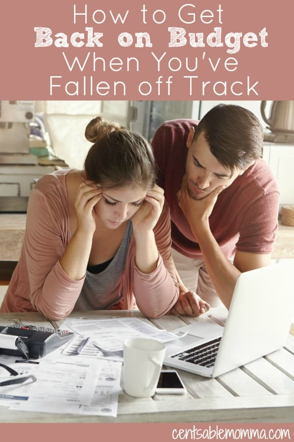 You've fallen off track on your budget and feel like there's no way to get your finances back in order. But don't despair! Use these 5 tricks to get back on budget even when it's been derailed.