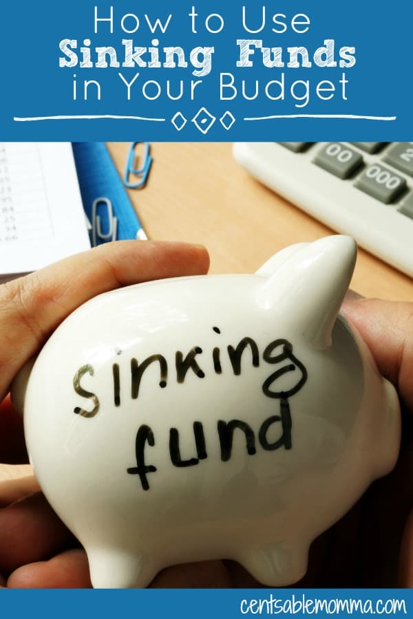 What are sinking funds and why should you include them as part of your budget?  Check out these 4 tips on how to use sinking finds in your budget for more details on how and why I use them myself.