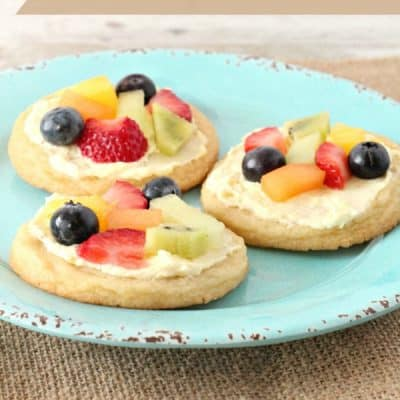 Mini Sugar Cookie Fruit Pizzas Recipe