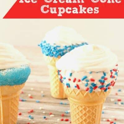 Patriotic Ice Cream Cone Cupcakes Recipe