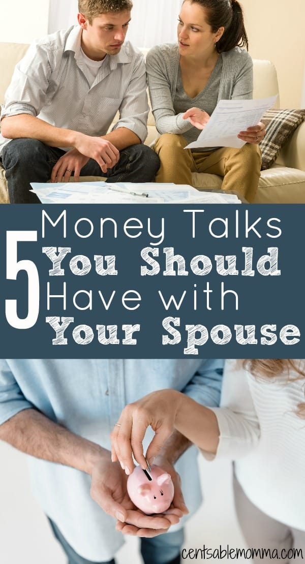 If you want to be successful with your money plan and you're married, it's best for both of you to be on the same page with your finances.  Check out these 5 Money Talks You Should Have with Your Spouse for some ideas on discussions you should have about money in order to be financially successful.
