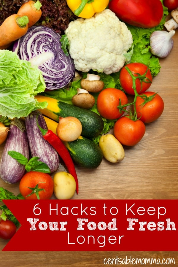Groceries are a large part of your budget! One way to save money on food expenses is to make sure that you use the food you buy and don't let it go to waste. Check out these 6 Hacks to Keep Your Food Fresh Longer for some tips on how to extend the shelf life of your food.